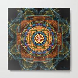 The Sri Yantra - Sacred Geometry Metal Print