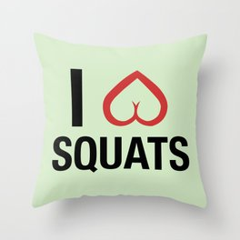 Squat Love Throw Pillow