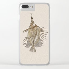 Fish Fossil Clear iPhone Case