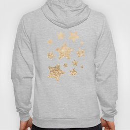 Beautiful champagne gold glitter sparkles Hoody