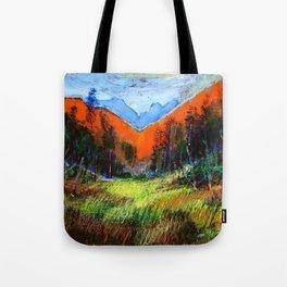Mountain Meadow Landscape Tote Bag
