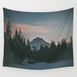 Frozen Mirror Lake Wall Tapestry