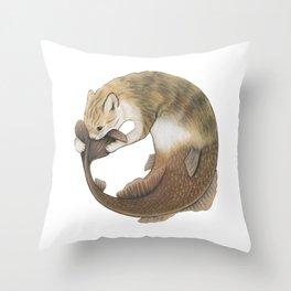 Meowmaid (Ouroboros) Throw Pillow
