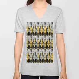Corona beer pattern pop art illustration Unisex V-Neck