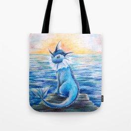Vaporeon By The Sea At Dawn Tote Bag