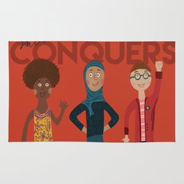 she conquers. Rug