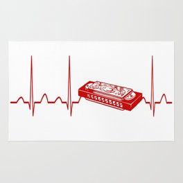 HARMONICA HEARTBEAT Rug