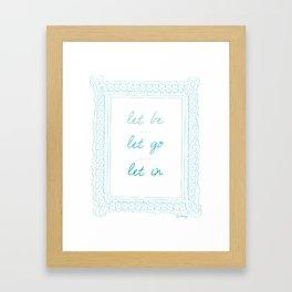 Positivity Framed Art Print