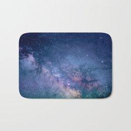 Purple Glitter Galaxy Bath Mat