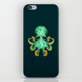 Cute Green Baby Octopus iPhone Skin