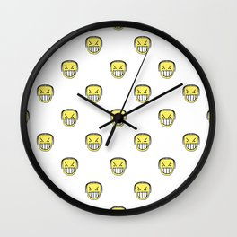 Angry Emoji Graphic Pattern Wall Clock