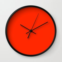 Rosso Corsa - Italian Racing Red - Sportscar Red Wall Clock