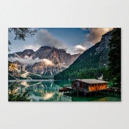 Italy mountains lake Canvas Print
