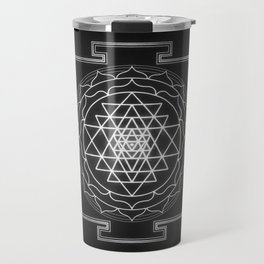 Sri Yantra XI - Black & White Travel Mug