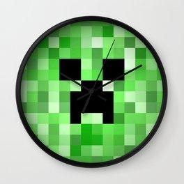 Creepy Creeper! Wall Clock