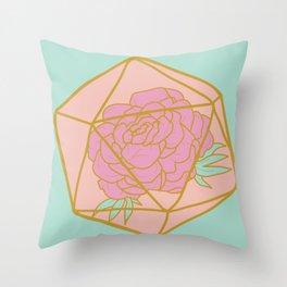 Sweet Crit (Peony) Throw Pillow