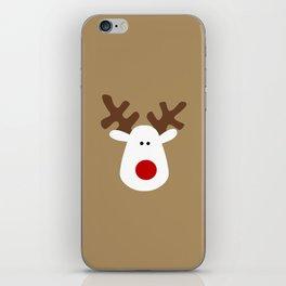 Christmas Reindeer-Brown iPhone Skin