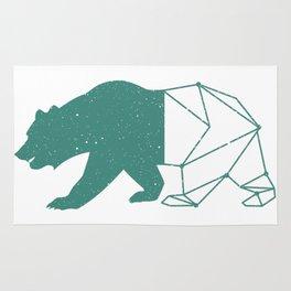 California Grizzly Bear - Vintage Starry Sky Print Rug