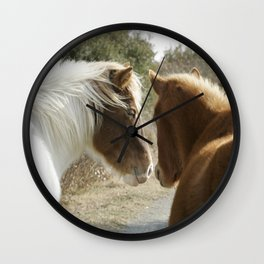 Horse Conversations Wall Clock