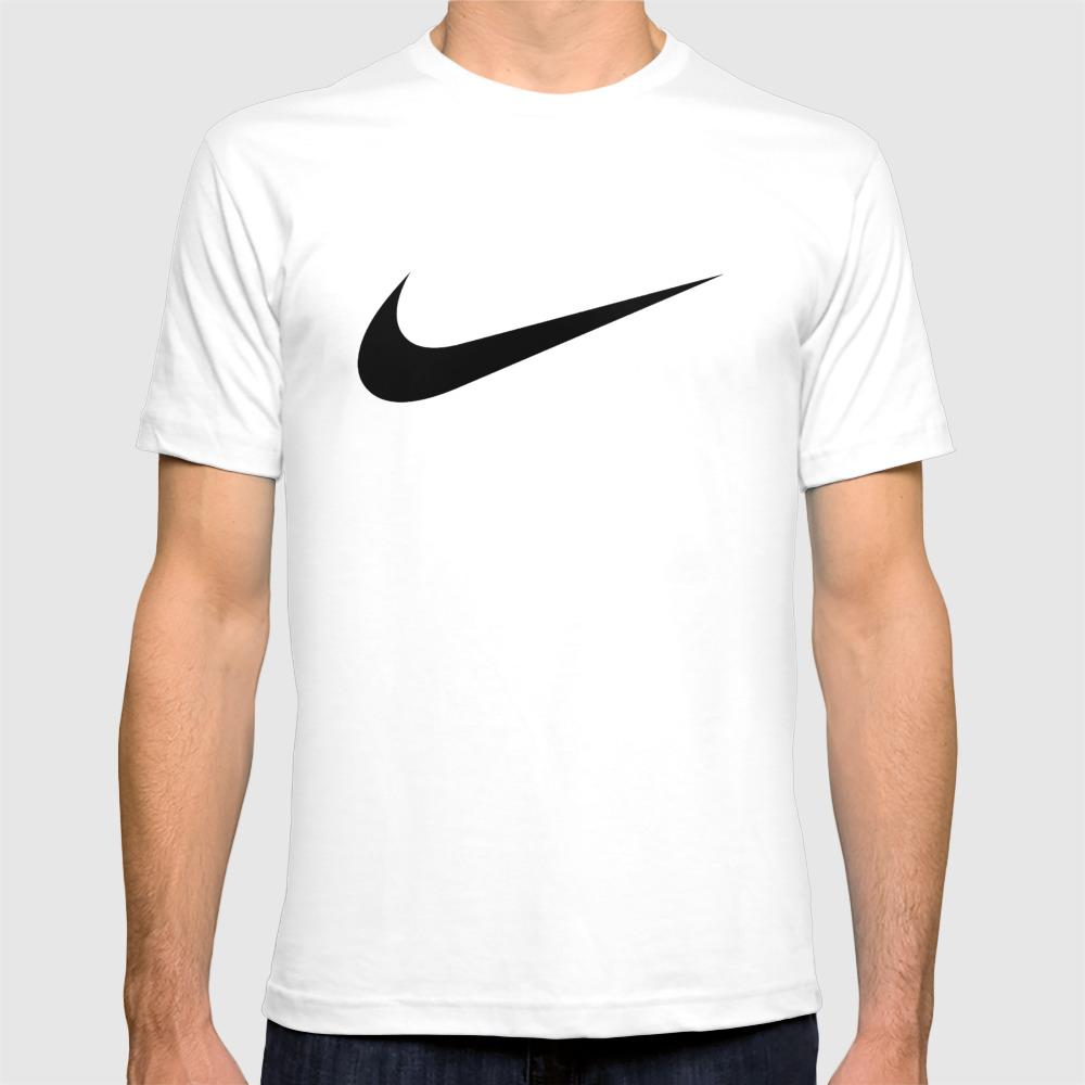 Nike/swoosh Black T-shirt by Lasika TSR9056036