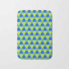 Yellow and blue honeycomb pattern Bath Mat