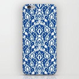Blue Casbah Damask iPhone Skin
