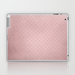 Grunge textured rose quartz small scallop pattern Laptop & iPad Skin