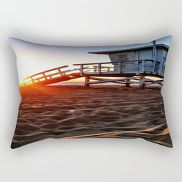 "Redondo Beach ""Life Guard Tower 3"" Rectangular Pillow"