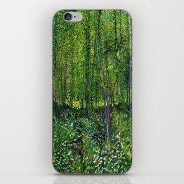 Vincent Van Gogh Trees & Underwood iPhone Skin