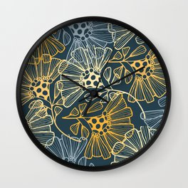 Hawaiian Garden Party - Tropical Flowers Wall Clock
