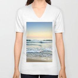 Serenity sea. Vintage. Square format Unisex V-Neck
