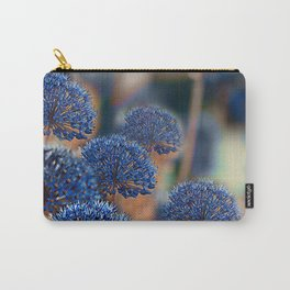 Blue ball flowers Carry-All Pouch