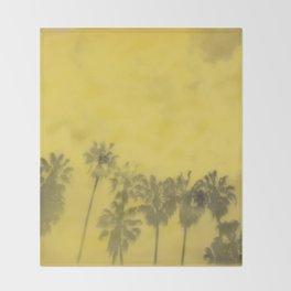 Yellow Palms Throw Blanket