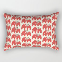 Swedish Elephant Rectangular Pillow