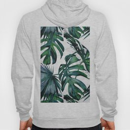 Tropical Palm Leaves Classic on Marble Hoody