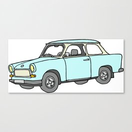 Trabant or Trabi. Car of GDR Canvas Print