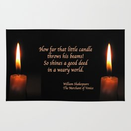Shakespeare Candle Flame Rug