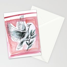 Peace Dove (Red) Stationery Cards