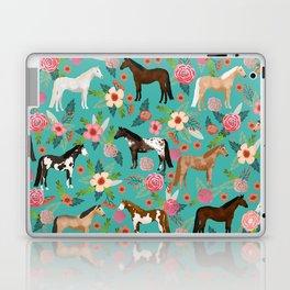 Horses floral horse breeds farm animal pets Laptop & iPad Skin