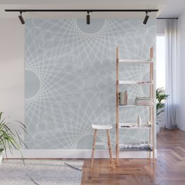 mathematical rotating roses - ice gray Wall Mural