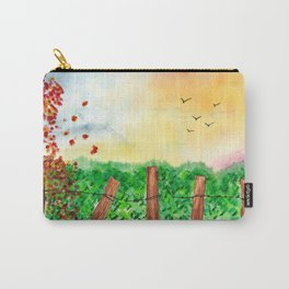 Sunset Landscape Watercolor Carry-All Pouch