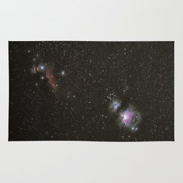 Orion horsehead running man and flame nebula Rug
