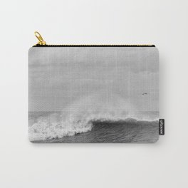 Seaham waves black and white Carry-All Pouch