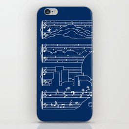 The Moonlight Sonata Blue iPhone Skin