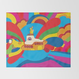Yellow Submarine Throw Blanket
