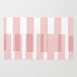 Big Stripes in Pink Rug