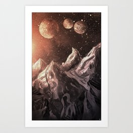So our quest leads us here  Art Print
