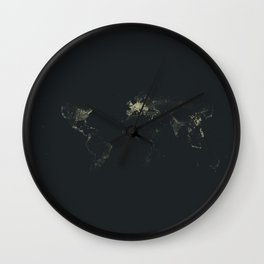 All the cities in the world Wall Clock