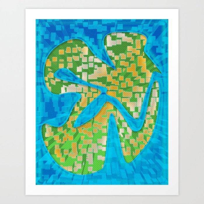 Neon Extrusion II Art Print