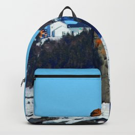 Stone Tower by the Frozen Sea Backpack